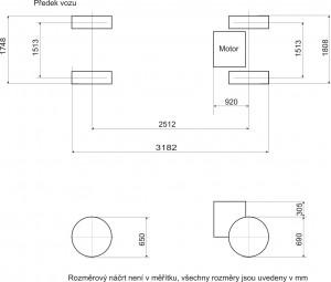 Spitfire - Designové zadání - rozměry